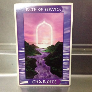 CHAROITE - the stone for the Path of Service - The Crystal Ally Cards by Naisha Ahsian